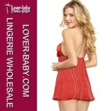 Ropa de noche del camisón de la muñeca de las mujeres de la ropa interior (L27987)