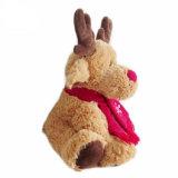 Giocattolo molle del bambino di natale della peluche promozionale alla moda della renna