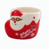 Kop van de Mousse van de Kerstman van de Kop van Kerstmis van de Cake van Porcelaincartoon de Ceramische