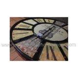 Часы стены домашнего логоса Cutomized украшения деревянные