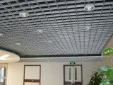 Ый алюминием потолок клетки металла ложный декоративный