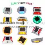 goujon solaire de clignotement de route de plots réflectorisés de 6PCS DEL