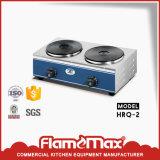 Fornello elettrico del piatto dell'acciaio inossidabile 2-Hot per le strumentazioni dell'hotel (HRQ-2)