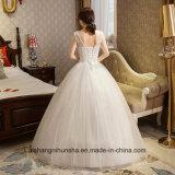 Merlettare in su l'abito di cerimonia nuziale romantico di basso costo del vestito da cerimonia nuziale dell'annata