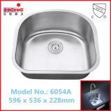 Cupcの米国式の単一ボールのステンレス鋼の台所の流しは承認した(6054A)