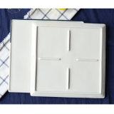 Квадратный стейк покрывает белый фарфор 2 части