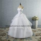 Qualitäts-Hochzeits-Kleid schnüren sich oben Hochzeits-Kleid der rückseitigen Frauen