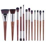 Набор щеток для макияжа, 10 щеток косметический набор, Деревянная ручка щетки, синтез волос