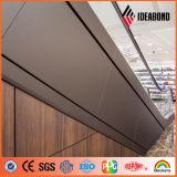 PVDF 외부 건축 장식적인 벽 물자 나무로 되는 보기 ACP 가격