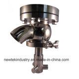 Santiary Edelstahl pneumatischer Potenziometer-unterer des führenden und Auslassventil-SS316