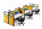 Classic Black Elegant Design Office Workstation 6 Seat (SZ-WSL305)