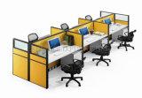 Negro clásico diseño elegante Oficina Workstation 6 Asiento (SZ-WSL305)