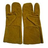 Промышленные перчатки руки заварки Split кожи коровы