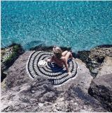 Женщин летом шифон раунда Sun этнических пляж полотенце с 150см