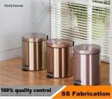 3L forme ronde en acier inoxydable de l'étape de la corbeille de la pédale poubelle (fini miroir, satin, de la poudre