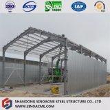 La luz de dos pisos estructurales de acero cobertizo de almacenamiento con entresuelo