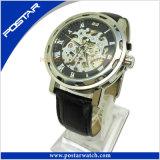Montre-bracelet de luxe squelettique de quartz de la mode des hommes Psd-2868