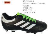 Drei Farben-Männer und Dame Shoes Football Stock Sheos