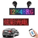 Finestra del tassì LED dell'automobile di telecomando 12~24V di P5-12X48RGB Bluetooth la mini video l'indicatore luminoso del segno LED del LED