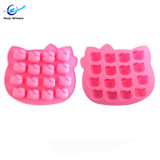 16 Furos Hello Kitty Grau Alimentício Bandeja de cubos de gelo de Silicone
