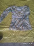 Heißer Verkauf in verwendetem London kleidet Dame-langes Hülsen-T-Shirt mit Jersey-Art