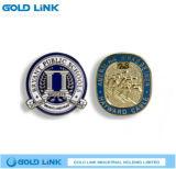 金属の学校のバッジの紋章のカスタム金属の折りえりPinの記念品