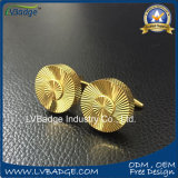 Diseño de moda Logotipo personalizado bronce metal gemelos