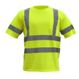 Haute qualité anti-statique Sécurité Réflexion haute visibilité T-shirt en coton
