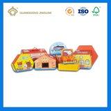 Rectángulo de papel de empaquetado de los juguetes con el divisor de papel (caja de embalaje del juguete de los niños)