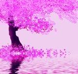 Романтичная пурпуровая конструкция картины вала для домашней картины маслом украшения