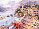 Peinture à l'huile paisible de paysage de ville de peinture libre libre d'esprit petite