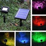 20 Zonne Lichte Kleur LEDs die het OpenluchtIP65 Waterdichte LEIDENE van de Afstandsbediening RGBW Licht van de Vloed voor de Weg van het Gazon van de Tuin ruilen