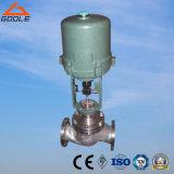 Tipo actuado eléctrico válvula de control equilibrada de flujo de la presión (GZDLM) de la jaula