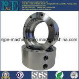 CNC da elevada precisão que faz à máquina a flange galvanizada do aço de carbono