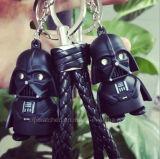 별 전쟁 열쇠 고리 빛 검정 Darth Vader 펜던트 LED Keychain