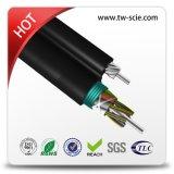 Cable óptico aéreo no-metálico de fibra de 288 memorias con el mensajero autosuficiente del solo modo