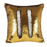 De gouden Zilveren Veranderlijke Vierkante Kussensloop van de Kleur