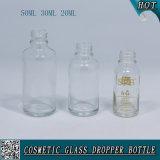 50ml 30ml 20ml Botella de gotero transparente de vidrio Botella de gotero de prueba de plástico para niños