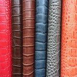 Couro grande do falso do PVC do crocodilo para a bolsa