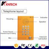 Téléphone résistant Knzd-29 de vandale avec le clavier numérique et la protection contre les intempéries améliorée