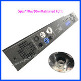 Matriz de LED tricolor 5pcs*DJ 30W/discoteca Light