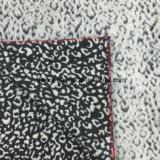 Ткань шерстей жаккарда печати леопарда в готовом