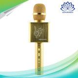 Microfone estéreo sem fio Bluetooth portátil com altifalante