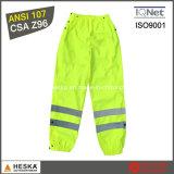 Il Mens protettivo del lavoro ansima gli alti pantaloni di visibilità