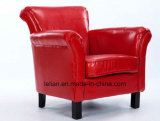 Silla del sofá del cuero de los muebles del sofá del diseño moderno sola (LL-BC081)