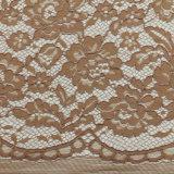 Fancy 3D Fabric Têxtil Materiais White Elastic Trustwin poliéster Warp tecido de renda de malha