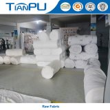 100% poliéster de colchón Tela 180-500GSM con Jacquard Logo personalizada