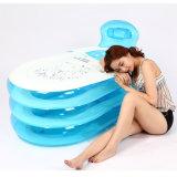 Vasca da bagno gonfiabile del PVC di colore blu dell'interno della famiglia per l'adulto