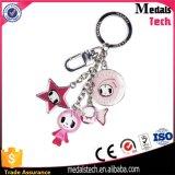 Kundenspezifischer neuer Entwurfs-nettes rosafarbenes überzogenes Epoxidmädchen-Metall Keychain