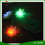 La energía solar piscina flotante impermeable de la lámpara flor de loto solar luz de la noche de la decoración de estanques de jardín